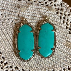 Kendra Scott Elle Gold Drop Statement Earrings